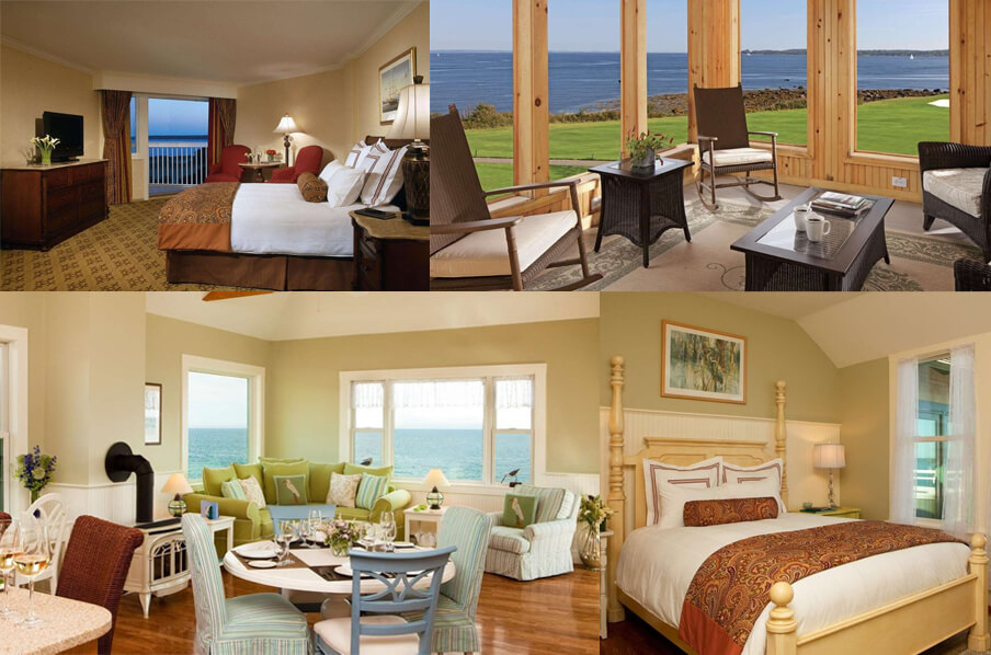 Bedroom and rooms in Samoset Resort